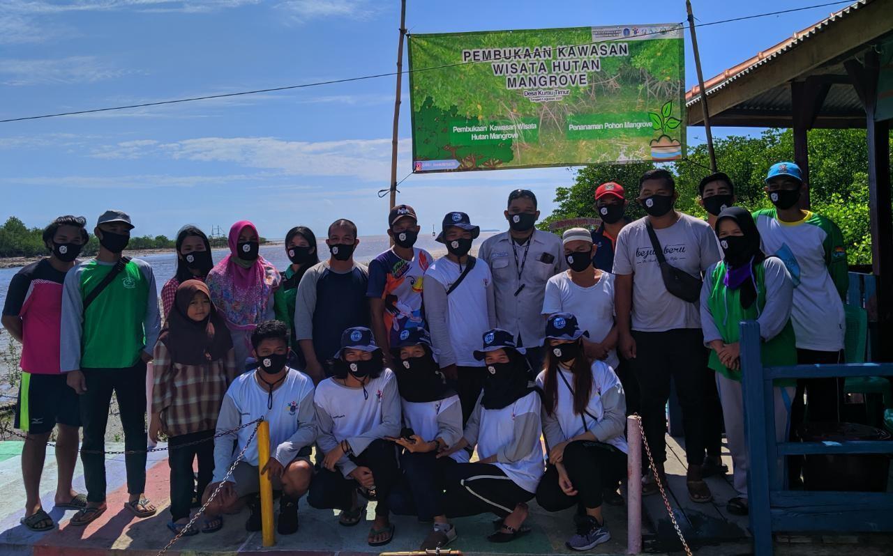 Mahasiswa KKN Desa Kurau Timur Bangun Ekowisata Hutan Mangrove