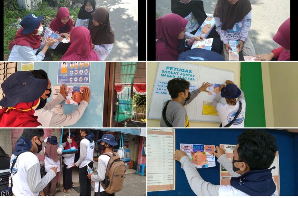 Mahasiswa KKN Tematik UBB Edukasi Masyarakat Tamansari Soal Pencegahan Covid-19 Di Era New Normal