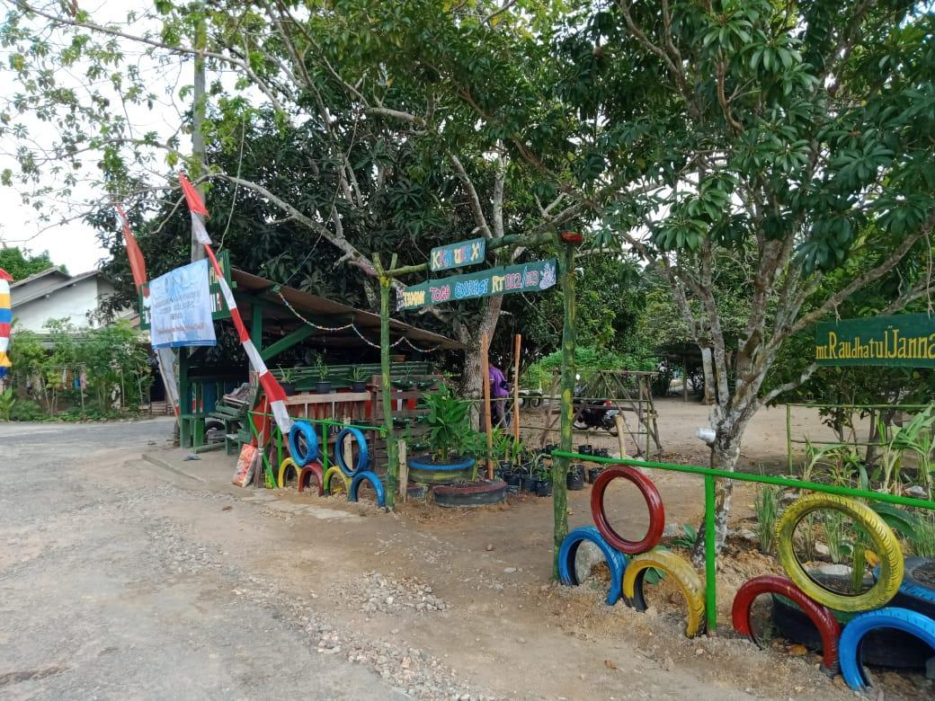 Mahasiswa KKN UBB Kelurahan Belinyu Kembangkan Taman Tanaman Obat Keluarga