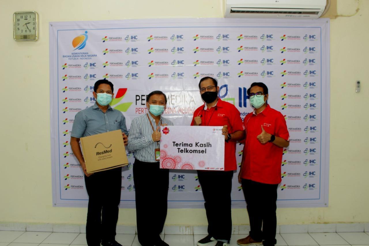 Memasuki Usia 25 Tahun, Telkomsel Komitmen Salurkan CSR, Kali Ini Bantu Ventilator Rumah Sakit