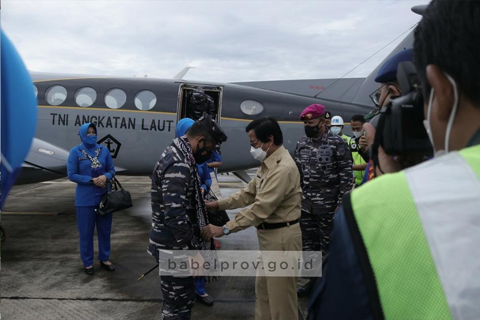 Mengawali Tugas, Panglima Laksda TNI AL Arsyad Abdullah Tinjau Pangkalan TNI AL di Babel