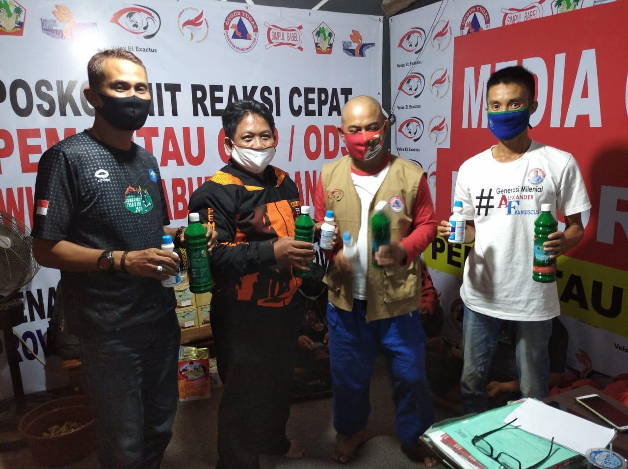 MPC PP Kabupaten Bangka Berikan Bantuan Pada Tim Relawan Pemantau ODP