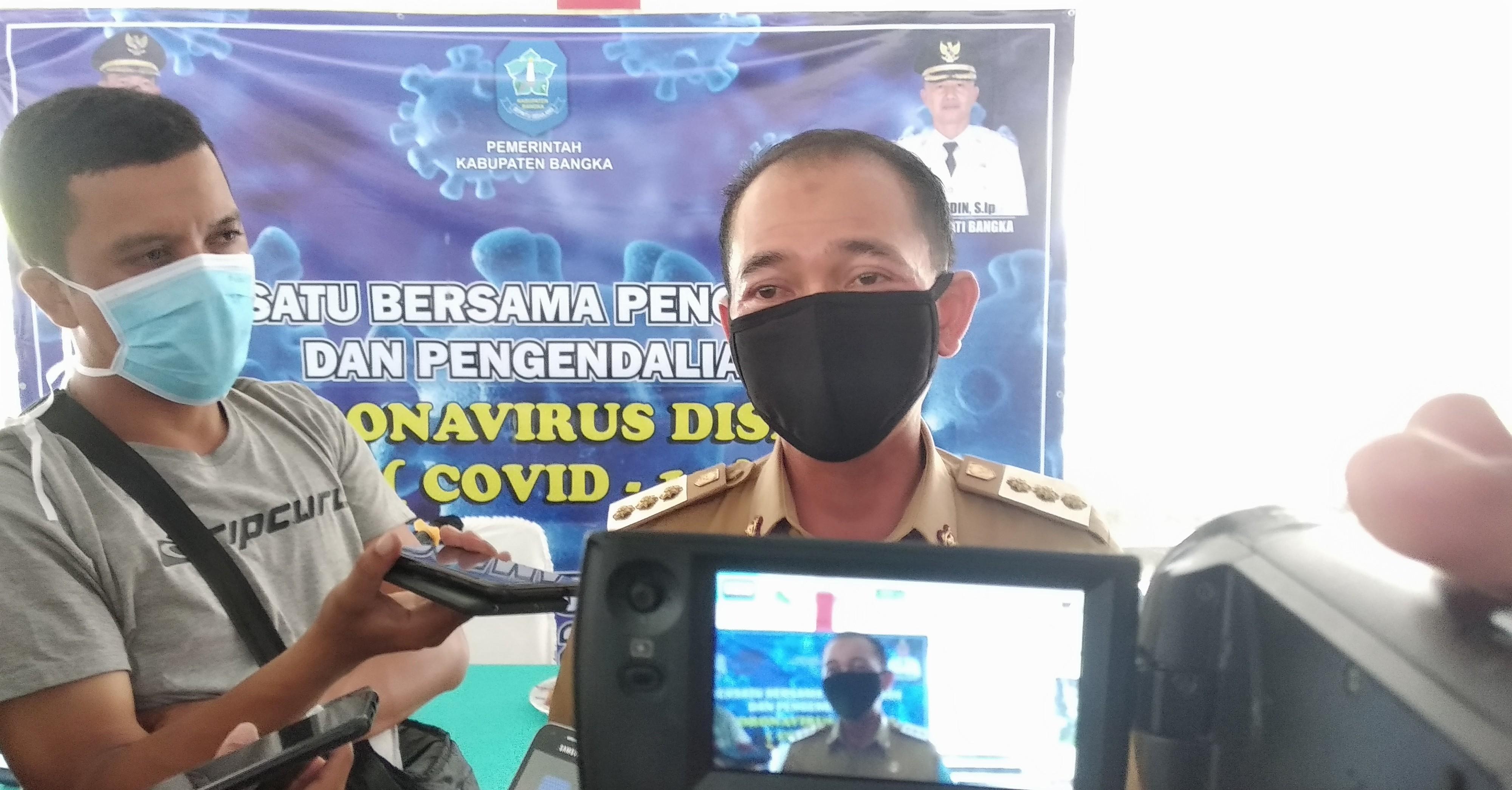 Mulkan : Kabupaten Bangka Salah Satu Kabupaten yang Cepat Lakukan Pergeseran DID untuk Covid-19