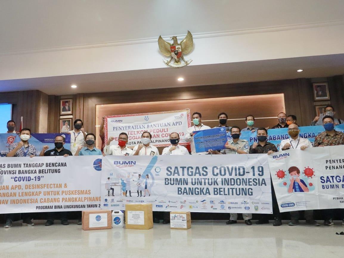 Parade Foto Forum BUMN Peduli Kembali Serahkan Bantuan ke Pemprov Babel