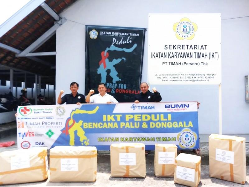 Peduli Korban Gempa Palu dan Donggala, IKT Salurkan Rp209 Juta dan 70 Koli Pakaian