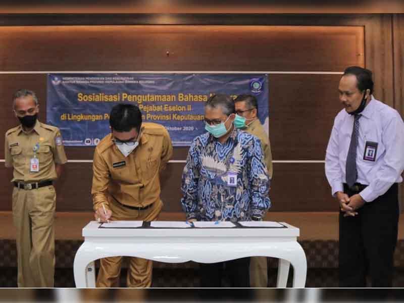 Pejabat Eselon II Pemprov Babel Ikuti Sosialisasi Pengutamaan Bahasa Indonesia