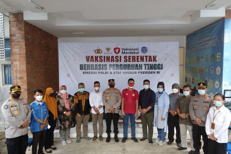 Pelaksanaan Vaksinasi di UBB di Pantau Langsung Staf Khusus Presiden