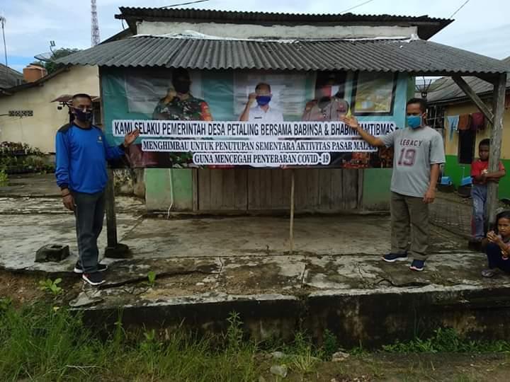 Pemdes Petaling Akhirnya Hentikan Aktivitas Pasar Malam