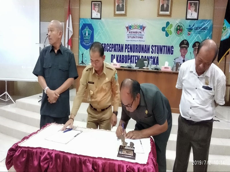 Pemkab Bangka MoU dengan DPRD Berantas Stunting