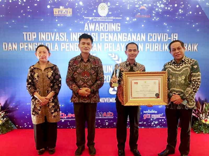 Pemkab Bangka Terima Penghargaan Kemenpan RB Atas Inovasi