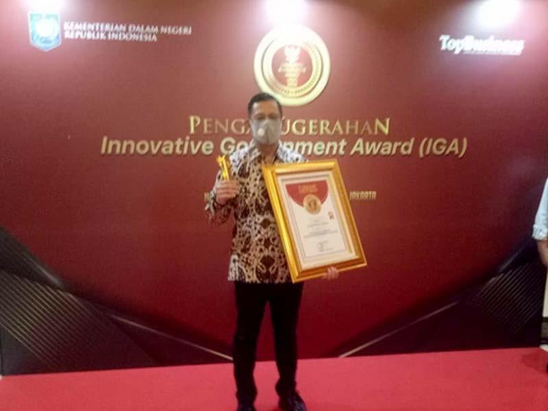 Pemkot Pangkalpinang Terima Penghargaan Kategori Kota Sangat Inovatif dari Kemendagri