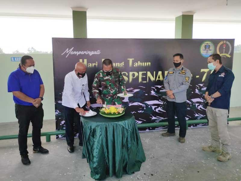 Peringati HUT ke-70 Dispenad, Dandrem 045/Gaya Bangun Sinergi Bersama Media