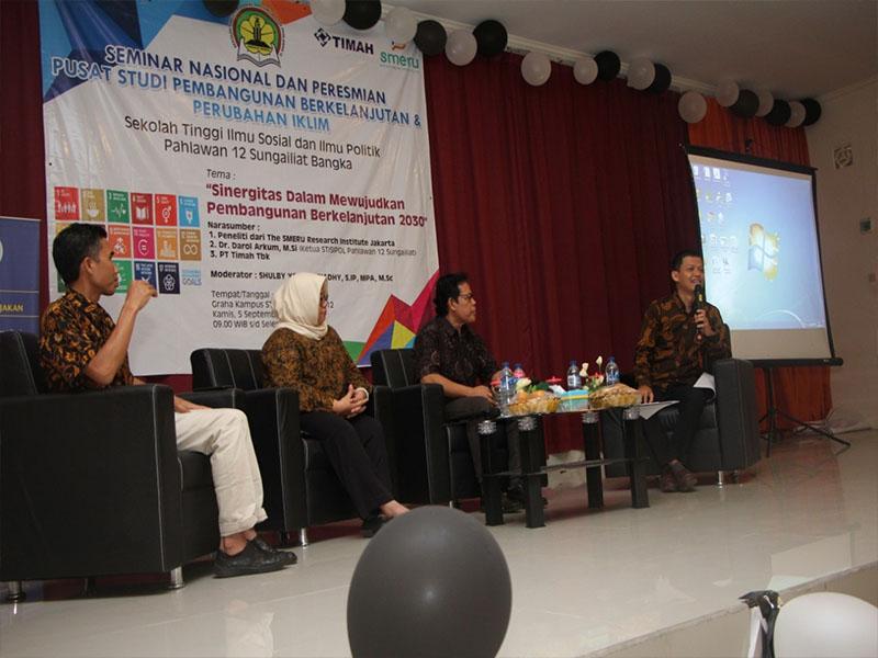 Pertama di Babel, Stisipol Pahlawan 12 Resmikan Pusat Studi Pembangunan Berkelanjutan dan Perubahan Iklim