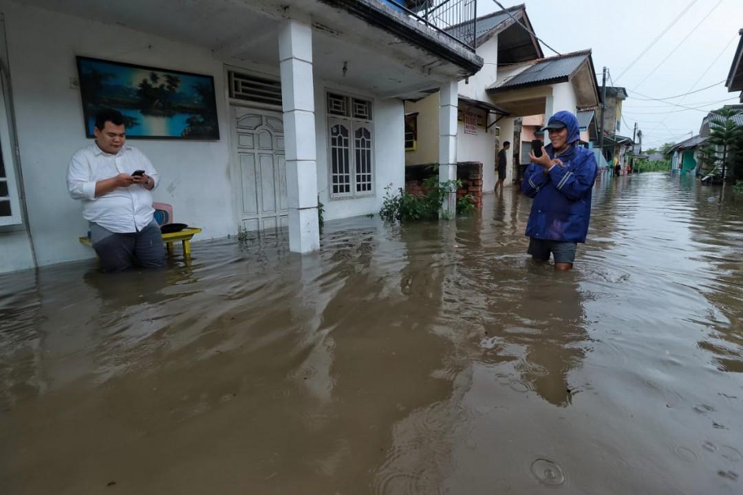 Gang Padat Rumah ini Digenangi Banjir, Foto Fierly.