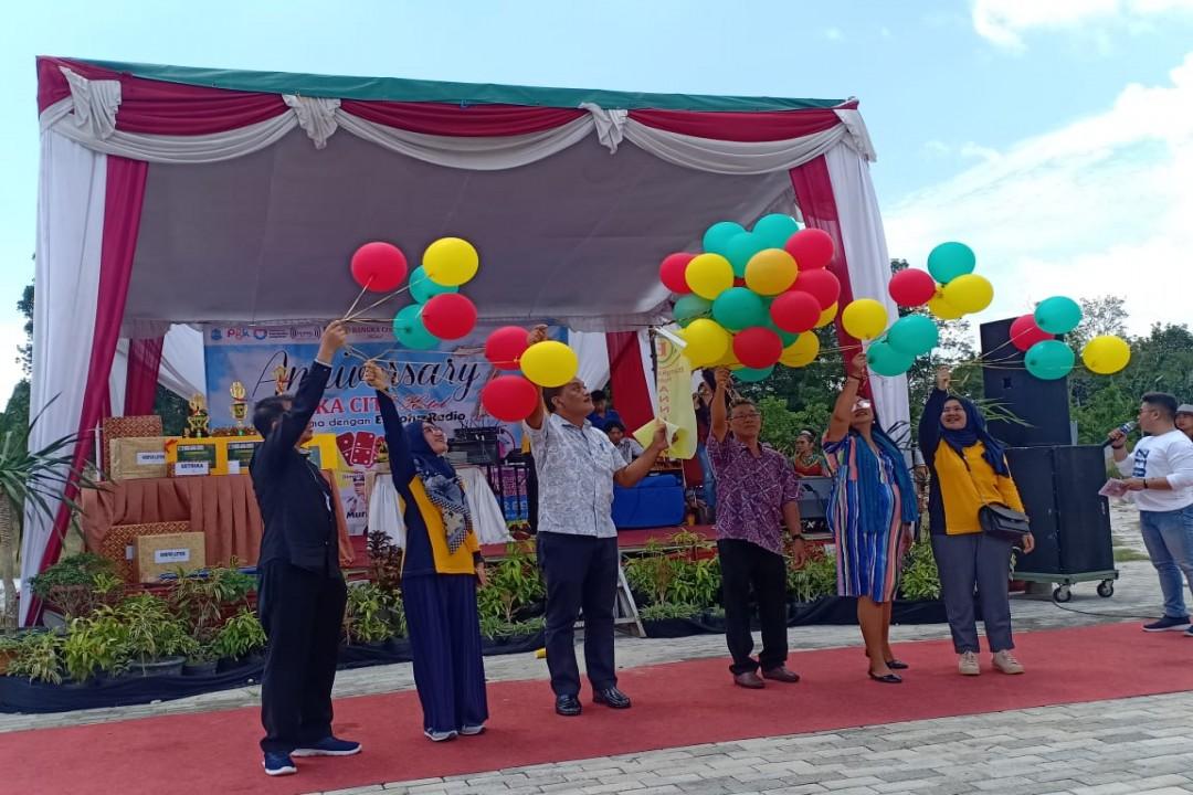 Bangka City Hotel Pangkalpinang merayakan HUT ke 7, di Halaman Bangka City Hotel Pangkalpinang, Sabtu (14/3/220). (Foto: Gusti/babelreview)