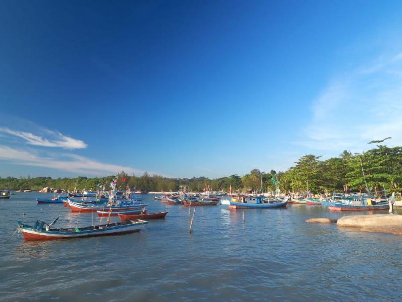 Pantai eksotis di ujung Selatan Pulau Bangka dengan segudang keindahan.