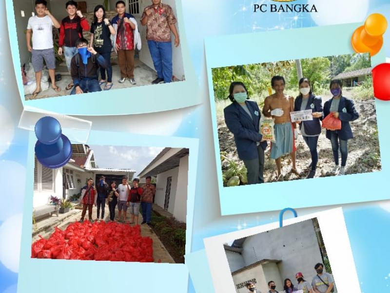 PC Hikmah Budhi Bangka ikut dalam aksi peduli Aliansi Cipayung Plus Bangka Belitung, dengan menggelar kegiatan bakti sosial terhitung sejak 15 Mei 2020. (Ist)