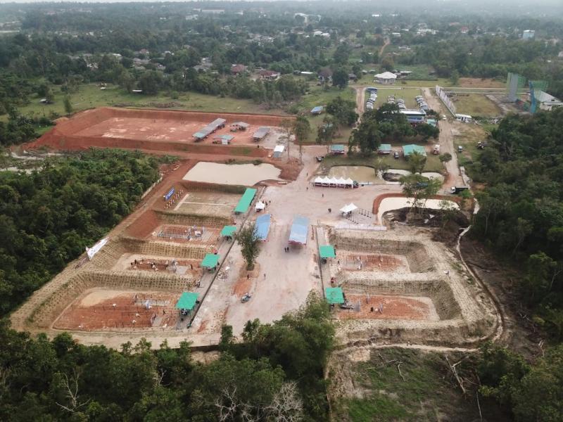 Ketua Harian Perbakin Bangka Belitung, Arbi Leo sedang berada di Lapangan Tembak Depati Bahrin, di Desa Padangbaru Kecamatan Pangkalanbaru, Kabupaten Bangka Tengah Provinsi Kepulauan Bangka Belitung. (it)