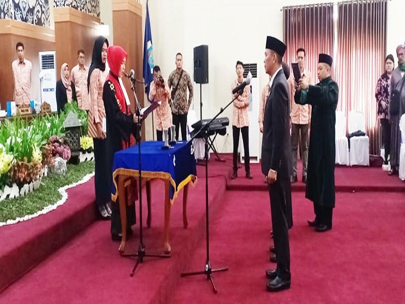 Pimpinan DPRD Kota Pangkalpinang Masa Jabatan 2019-2024 Resmi Dilantik