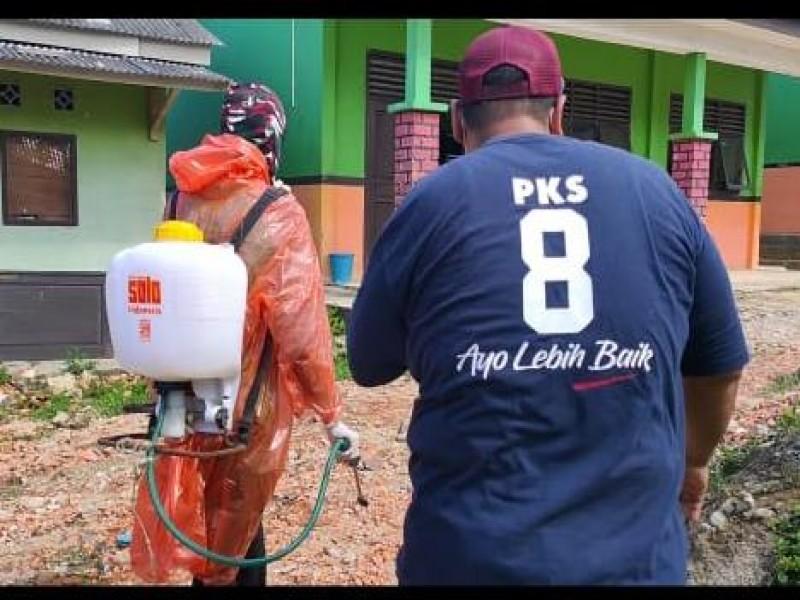 PKS Babel Gerak Cepat, Mulai Turunkan Tim Disinfektan Fasilitas Umum