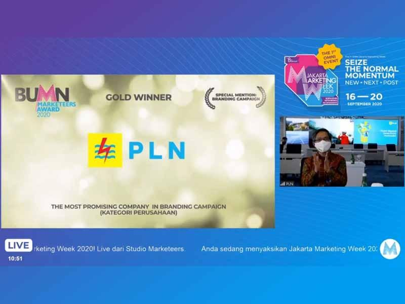 PLN Raih Tiga Penghargaan dalam Ajang BUMN Marketeers Award 2020