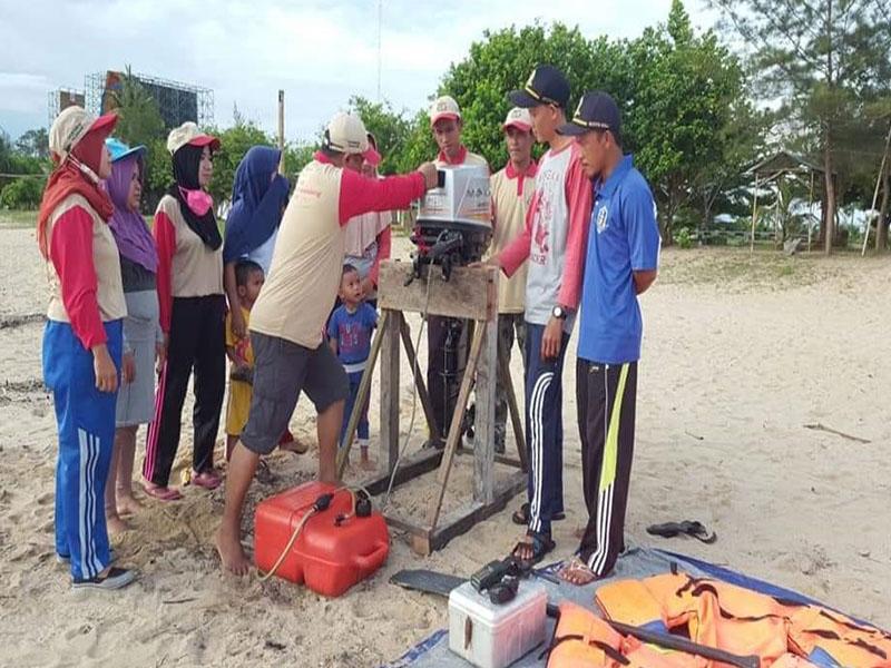 Pokdarwis Gerhana Desa Terentang Gelar Pelatihan Praktek Operasional Mesin Tempel