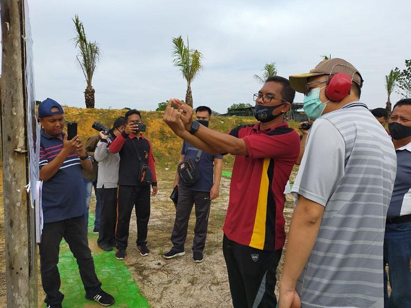 Polres Bangka Barat Gelar Latihan Menembak Bersama Forkopimda
