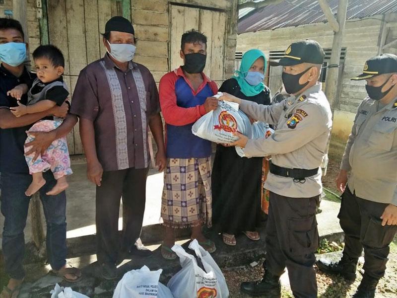 Polres Bateng Bagikan 400 Paket Sembako