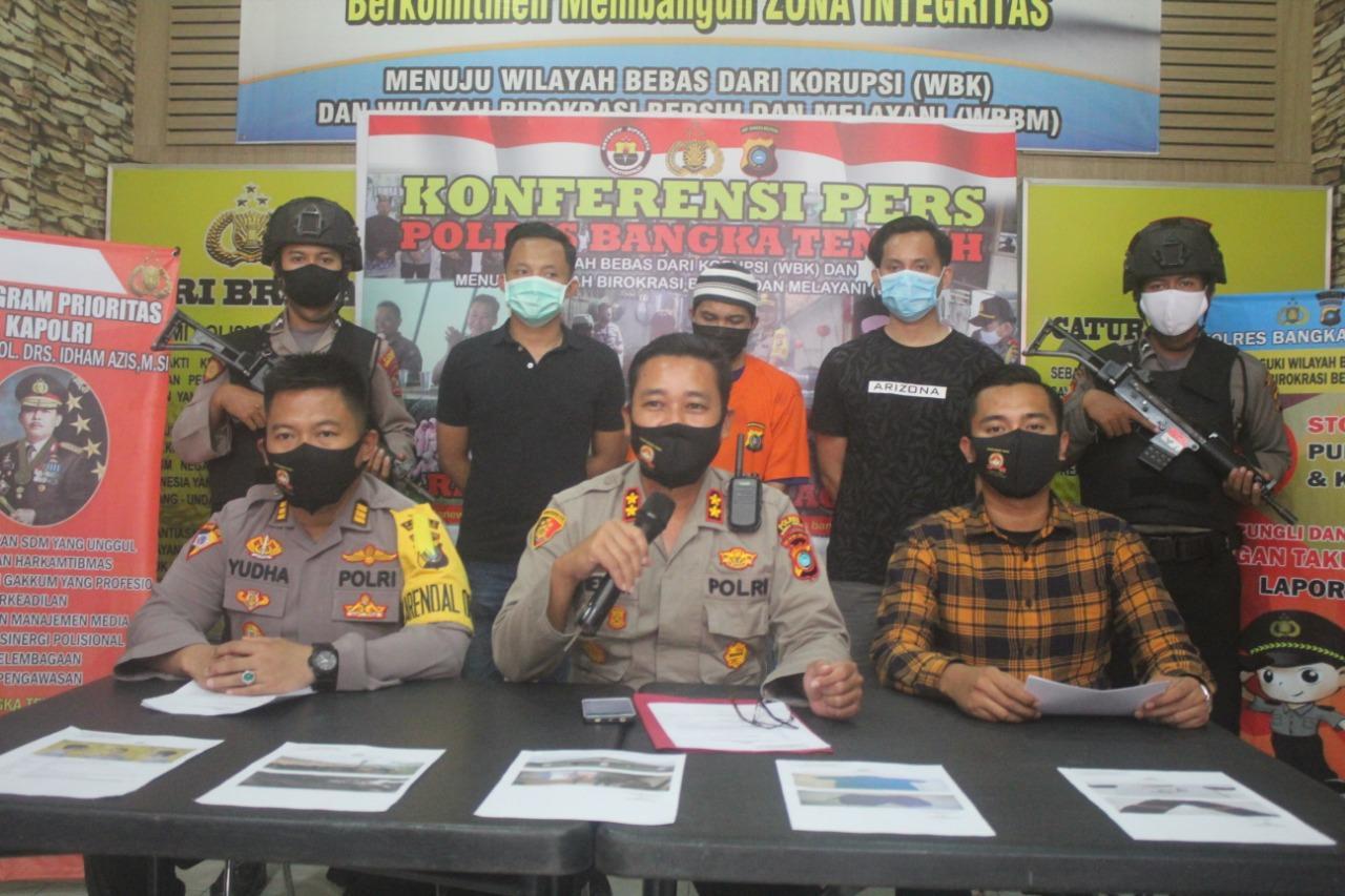 Polres Bateng Gelar Pers Release, Pelaku Pecabulan Asal Desa Celuak Terancam 15 Tahun Penjara
