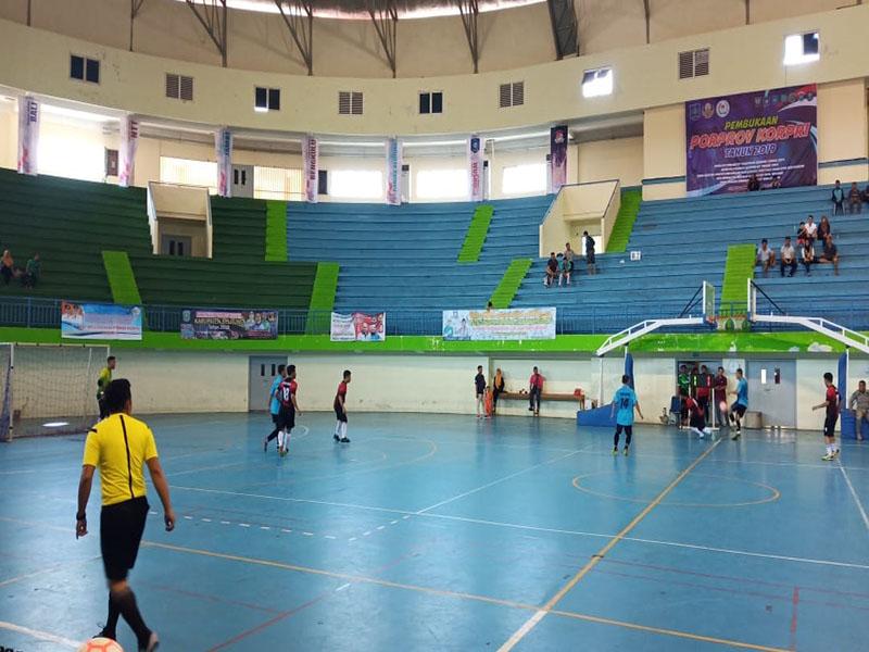 Porprov Korpri Babel 2019: Kandaskan Beltim di Semifinal, Pemkot Pangkal Pinang ke Final Cabor Futsal