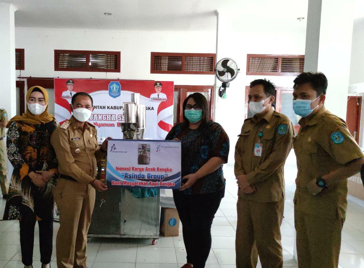 PT. BAA Serahkan Bantuan Mesin Roasting Kopi ke Pemkab Bangka