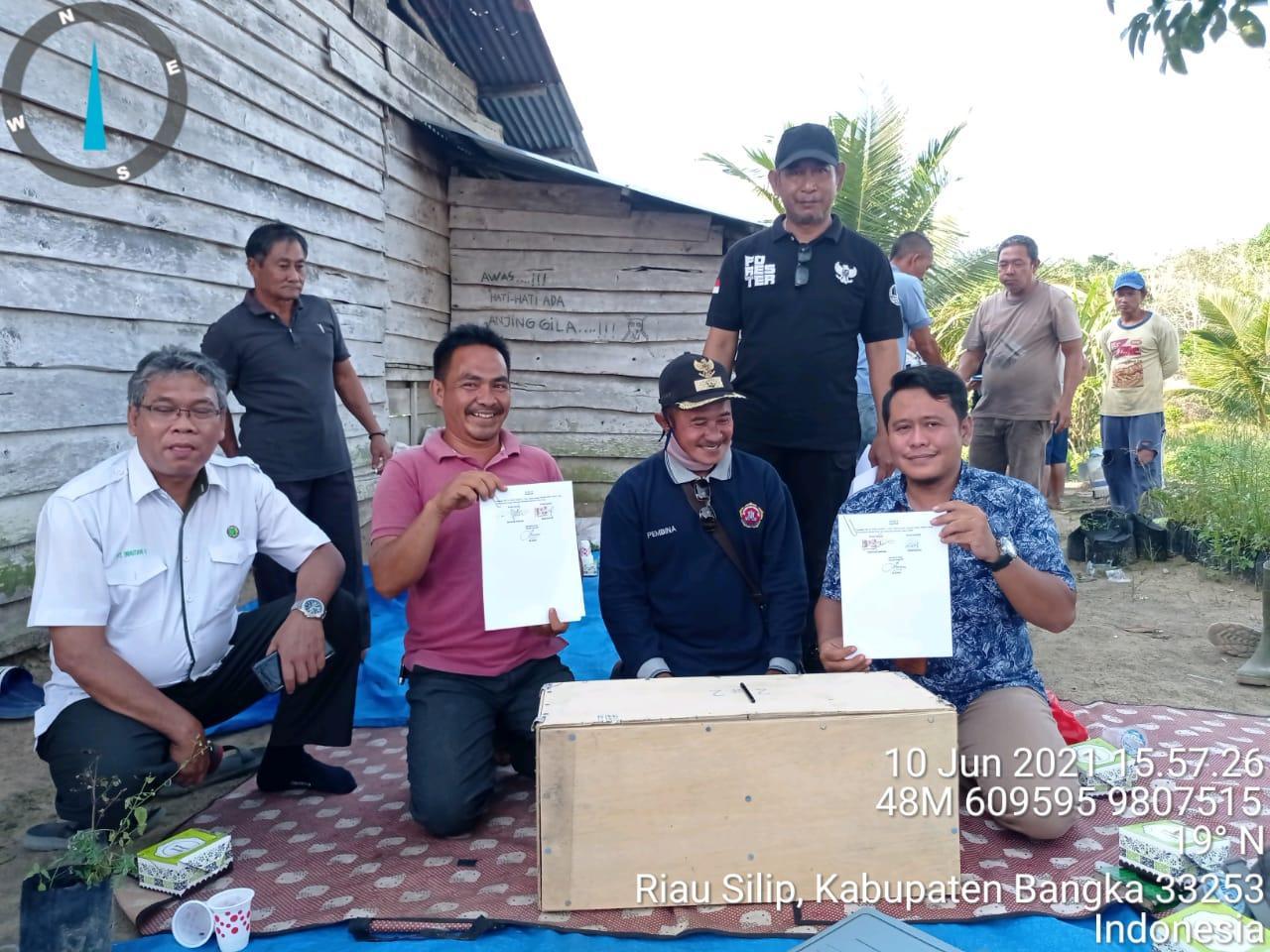 PT. Inhutani V Unit Bangka Lakukan Penandatanganan NKK dengan KTH Garap Berjaya