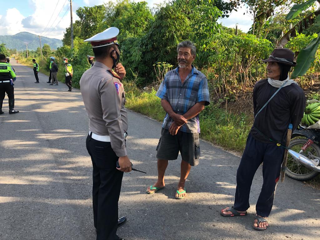 Resahkan Pengguna Jalan, Balapan Liar di Jalan Dusun Sadap Dibubar Paksa Tim Satlantas Polres Bateng