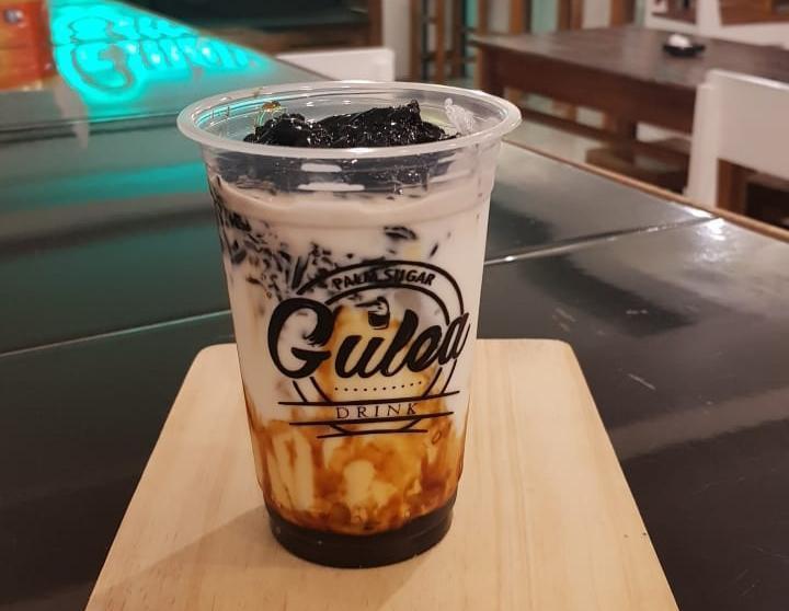 REVIEW MENU : Es Susu Aren Cincau Ala Gulea Cocok Untuk Berbuka Puasa