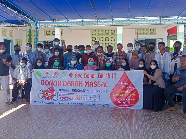 Sambut Ramadhan, Ikatan Remaja Surau Nurul Jannah Gelar Donor Darah