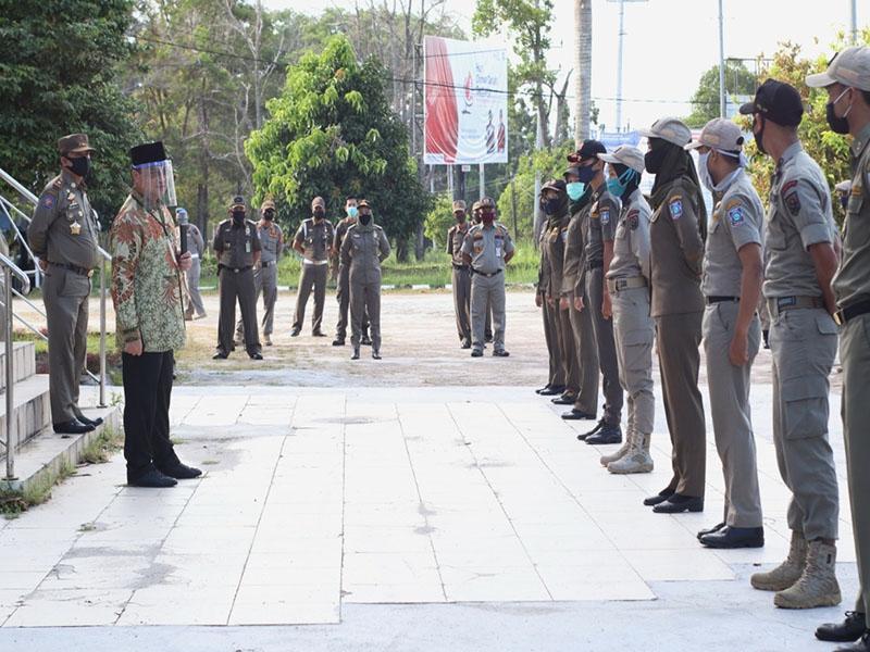 Satpol PP Rutin Patroli untuk Tegakkan Disiplin Penerapan Protokol Covid-19
