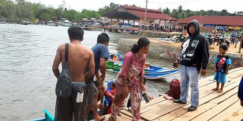 Satu unit Speedboat Penutuk - Sadai Tenggelam, Seorang Anak 3 Tahun Belum Ditemukan