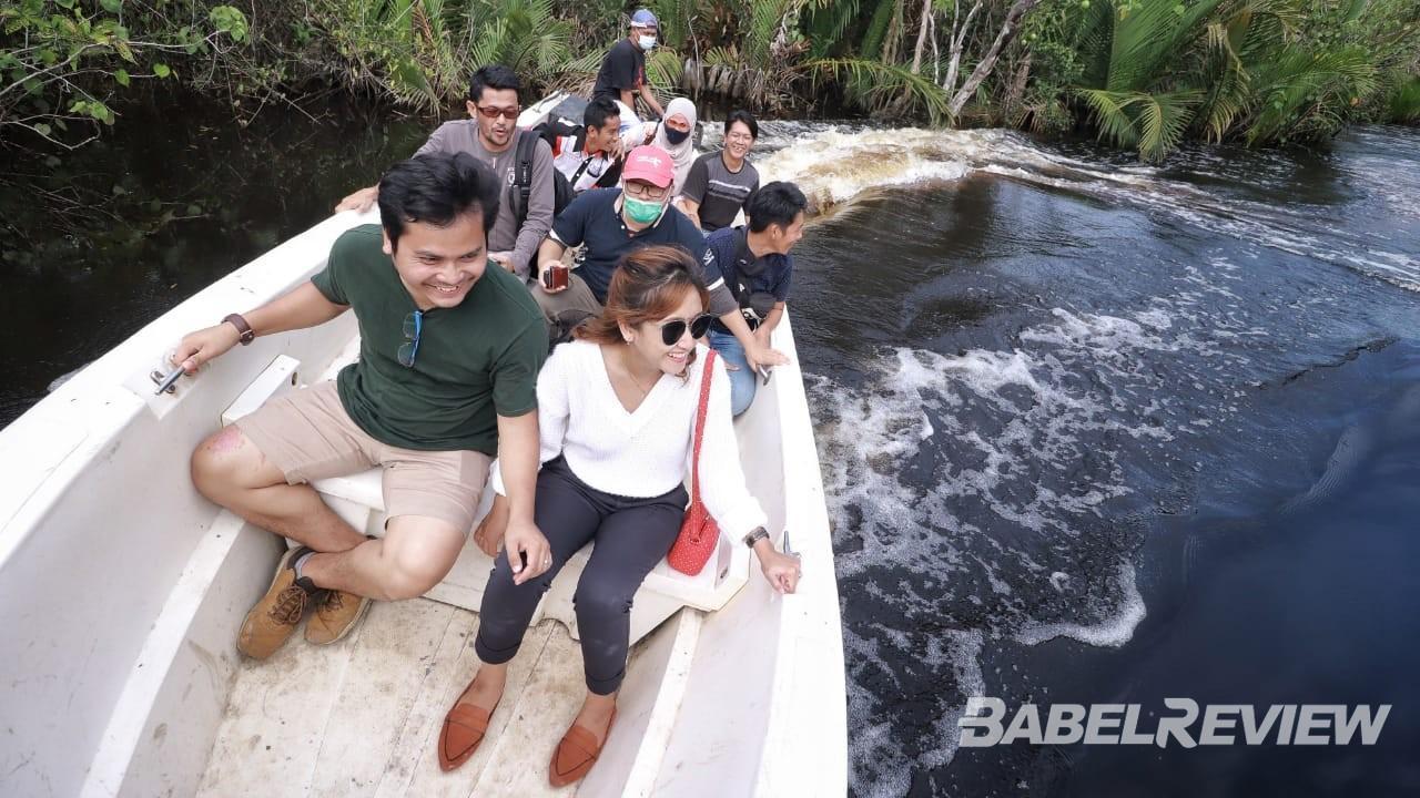 Serunya Famtrip Media Kemenparekraf 2020, Tergoda Sensasi 'Berselancar' di Mangrove Munjang