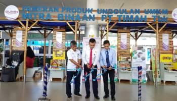 10 Mitra Binaan PT. Timah Pamer Produk UMKM di Bandara Depati Amir