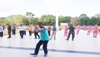 103 Tim Meriahkan Lomba Senam Bedincak Bangka Tengah