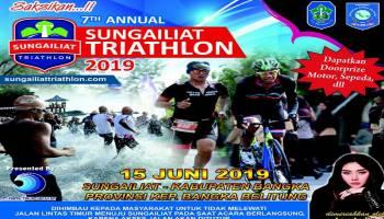 16 Negara Ramaikan Sungailiat Triathlon 2019