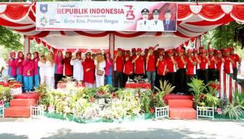 183 Peserta Meriahkan Gerak Jalan HUT RI ke 73 di Bangka Barat