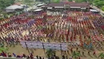 2.000 Orang Bedincak di Halaman Kantor Polres Bangka Barat