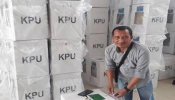 2.385 Kotak Surat Suara Siap Dikirim ke Seluruh TPS Bangka Tengah