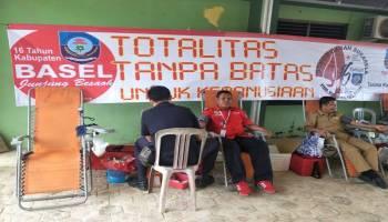 25 Kantong Darah Terkumpul dari Kegiatan Donor Darah di Kecamatan Simpang Rimba