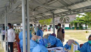 327 Santri Ponpes Islamic Center Sungailiat Lakukan Swab Massal