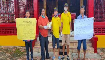 350 Karung Beras dari Amerika Siap Dibagikan Yayasan Dharma Bhakti ke Masyarakat