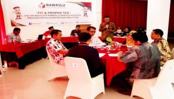 42 Calon Anggota Bawaslu Kabupaten/Kota Ikut Fit and Proper Test