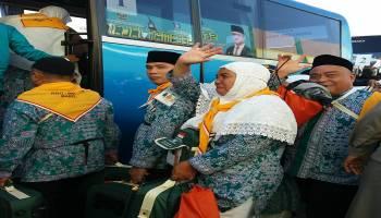 443 Jemaah Calon Haji asal Kabupaten Bangka dan Bateng Diberangkatkan ke Embarkasi Palembang