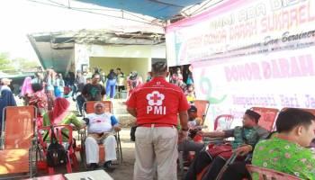 70 Kantong Darah Disumbangkan PMI Payung